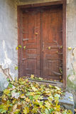 Forgotten Door. The place is forgotten for a long time Royalty Free Stock Photography
