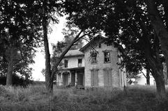 Forgotten Farm. An old abandoned farmhouse forgotten in rural Michigan Stock Images