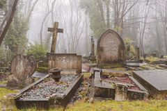 Cemetery grave stones, london Stock Images