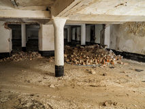 Forgotten hall in old factory Royalty Free Stock Photos