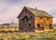 Forgotten homestead in Idaho at sunset Royalty Free Stock Photography