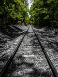 A stroll down the tracks. Forgotten paths revealed royalty free stock image