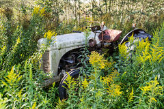 A forgotten, but proud old tractor. An old tractor in the neighborhood that are no longer in use, the tractor still starts Royalty Free Stock Photography