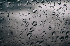Forgotten rain drops royalty free stock photos