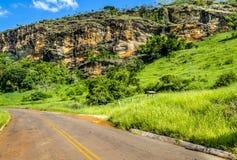 Forgotten road towards destiny. Stock Photos