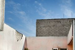 Forgotten roof. In Mexico Royalty Free Stock Images