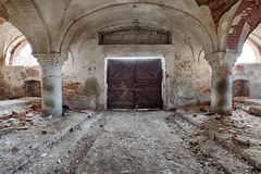 Forgotten stable with a beautiful brick vault Stock Photos