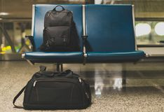 Forgotten travel bags. Royalty Free Stock Image