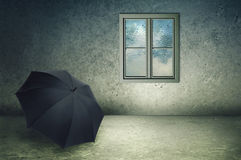 Forgotten umbrella royalty free stock photos