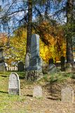 Forgotten and unkempt Jewish cemetery Royalty Free Stock Photography