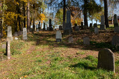 Forgotten and unkempt Jewish cemetery Stock Image