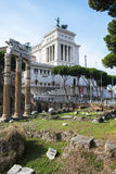 Fori and altare della patria Royalty Free Stock Photo