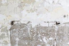 Fori delle crepe sulla parete del gesso Fotografia Stock Libera da Diritti
