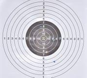 Fori di pallottola nel mezzo dell'obiettivo di pratica Immagini Stock Libere da Diritti