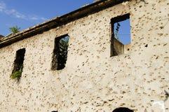 Fori di pallottola sulla parete - Sarajevo - Bosnia-Erzegovina Fotografie Stock