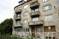 Fori di pallottola sulla parete - Sarajevo - Bosnia-Erzegovina Fotografie Stock Libere da Diritti