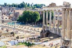 Fori Imperiali在罗马,意大利 免版税库存图片