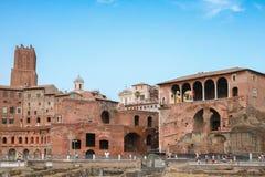 Fori imperiali and Casa dei cavalieri di Rodi, Rome Royalty Free Stock Image