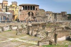Fori imperiali i Casa dei cavalieri Di Rodi, Rzym Zdjęcia Royalty Free
