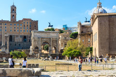 Fori Imperiali, monumental fora in Rome, Italy Stock Photography