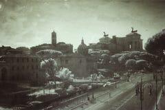Fori Imperiali in Rom Stockbilder