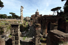 Fori Imperiali in Rome Royalty Free Stock Image