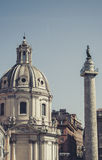 Fori Imperiali in Rome (Italy). Fori Imperiali in Rome in Italy Royalty Free Stock Photography