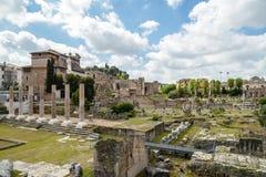 Fori imperiali in Rome, Italy. A view of fori imperiali in Rome, Italy Stock Photography