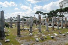 Fori imperiali in Rome, Italy. A view of fori imperiali in Rome, Italy Royalty Free Stock Photo