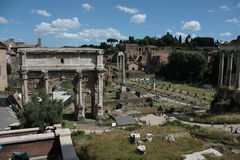 Fori Romani. View of the site of Fori, Rome, Italy, archeological site Royalty Free Stock Image
