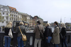 FORIGN TOURISTS IN COPENHAGEN Royalty Free Stock Image