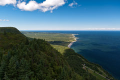 Forillon National Park aerial view Royalty Free Stock Photo