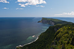 Forillon National Park aerial view stock photography