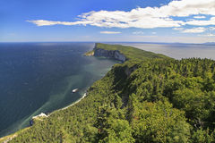 Forillon National Park, Quebec, Canada. Forillon Cape, aerial view Gaspesie, Quebec, Canada Royalty Free Stock Image