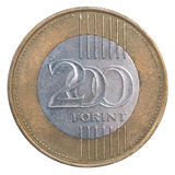 Forint 200 Coin Stock Photo