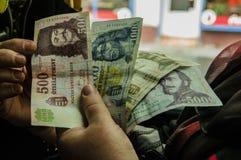 Forint - dinero viejo foto de archivo