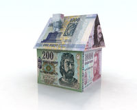 Forint house illustration Royalty Free Stock Images
