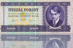 Forint money from Hungary Stock Photography