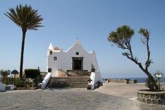 Forio, cappella di Fishermans. Fotografie Stock