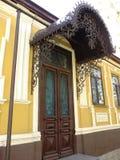 Forja, puerta de entrada, visera forjado, toldo forjado, arquitectura, arte, arquitectura, fotografía de archivo libre de regalías
