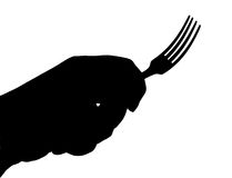Fork. The Silverware. The Drawn fork. The Vector Stock Images