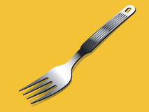 A fork. With isolated background vector illustration