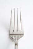 Fork. Shining metal fork on white bottom Royalty Free Stock Image