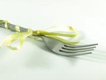 Fork amarilla del abrigo Foto de archivo