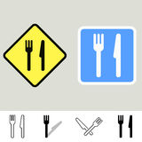 Fork And Knife Signs Stock Photo