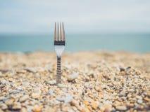 Fork on the beach Stock Photos