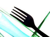 Fork and Bottle Abstract Stock Photos
