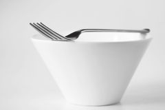 Fork and Bowl Stock Images