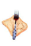 Fork and bread Stock Image