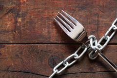 Fork And Chain Royalty Free Stock Images